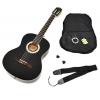 Guitare de concert 4/4 avec étui, sangle, diapason, jeu de cordes de rechange et médiator