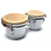 Bongos: White Bongo Drums with 6″ / 7″ heads Professional Series