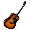 Guitare Acoustique Folk Sunburst 4/4 ~ Neuve & Garantie