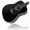 C.GIANT – Guitare folk, noir, avec housse