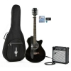 Single Pan Coupé Electro acoustique guitare Pack Ampli 15W noir