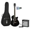 Single Pan Coupé Electro acoustique guitare Pack Ampli 15W noir