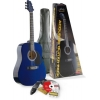 Stagg – Guitare acoustique – Guitare western bleue package