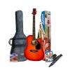 Ashton D25CEQ Pack guitare électro-acoustique Avec accordeur intégré & accessoires Cherry Burst (Import Allemagne)