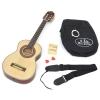 ts-ideen Guitare 1/4 classique acoustique pour enfant avec accessoires: étui rembourré, sangle, cordes, diapason à bouche et 2 médiators