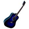 Guitare Acoustique Folk Bleue nuit 4/4 ~ Neuve & Garantie