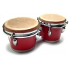 Bongos: Red Bongo Drums with 6″ / 7″ heads Professional Series