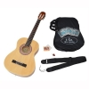 ts-ideen Guitare de concert 3/4 classique acoustique pour enfant de 8 à 12 ans avec étui rembourré, cordes, médiators, diapason à bouche et sangle