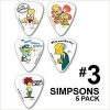 Simpsons pack de 5 Médiators de guitare