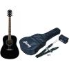 Ibanez V105SJP-BK Guitare folk Jampack avec accessoires (Noir)