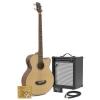 Guitare basse electro acoustique 35W Pack Ampli