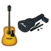 IBANEZ – V50NJP-LVS Pack – guitare folk Vintage sunburst avec kit accessoires