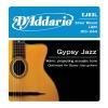 D'Addario EJ83L Gypsy Jazz Jeu de corde pour guitare acoustique Tirant Jazz Light (.010-.044) (Import Royaume Uni)