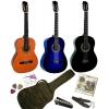 Pack Guitare Classique 4/4 pour Gaucher Avec 6 Accessoires ~ Neuf (bleue)