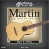 Martin & Co – Cordes pour les guitares folk, acoustiques et électro acoustiques M130 jeu de cordes Silk & steel 11.5 – 47