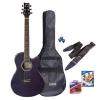 Ashton SPFG48BKS Guitare débutant taille 3/4 avec accessoires (Noir)