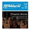 D'Addario EJ16- Phosphor Bronze Jeu de cordes pour guitare acoustique Tirant light .012-.053 (Import Royaume Uni)