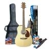 Ashton SPD25CEQNT Guitare électro-acoustique avec accordeur intégré et accessoires (Bois)