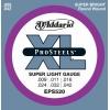 D'Addario EPS520 XL ProSteels Jeu de cordes pour guitare électrique Tirant super light (.009-.042) (Import Royaume Uni)