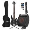 Offre Guitare Basse SE-4 Gear4music Noire + Ampli Basse BP80