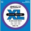 D'Addario EXL115 Nickel Wound – Jeux de cordes pour guitares électriques Medium/Blues-Jazz 11 – 49