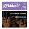 D'Addario EJ26 Phosphor Bronze Jeu de cordes pour guitare acoustique Tirant custom light .011-.052 (Import Royaume Uni)