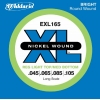 D'Addario – EXL165 – XL Nickel Wound – Jeu de cordes pour basse électrique – Tirant Regular Light Top/Medium Bottom (.045-.105) (Import Royaume Uni)