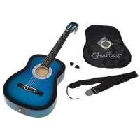 ts-ideen Guitare de concert classique acoustique avec étui, cordes de rechange, médiator et sangle (Bleu/noir)