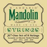 D'Addario J67 Nickel-Plated Steel Jeu de cordes pour mandoline Tirant Medium (.011-.039) (Import Royaume Uni)