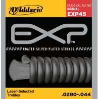 D'Addario EXP45 EXP Coated Jeu de cordes pour guitare classique Tirant normal (.028-.044) (Import Royaume Uni)