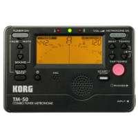 Korg TM50BK Métronome/accordeur Large détection (Noir)