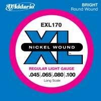 D'Addario EXL170 XL Nickel Wound Jeu de cordes pour basse électrique Tirant Regular Light (.045-.100) (Import Royaume Uni)