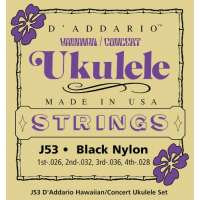 D'Addario J53 Hawaiian Concert Ukulele Jeu de cordes pour ukulélé concert (Import Royaume Uni)