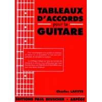 Partition : Tableaux d'accords pour la guitare