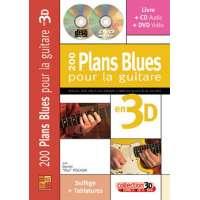 200 plans Blues pour la guitare en 3D (livre/CD/DVD)