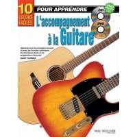 10 leçons faciles pour apprendre L'accompagnement à la Guitare + CD + DVD