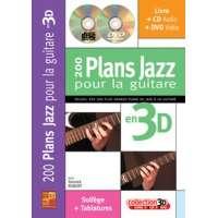 200 Plans Jazz pour la Guitare en 3D (livre/CD/DVD)