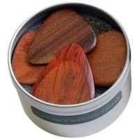 Timber Tones Lot de 4 médiators en bois pour guitare acoustique