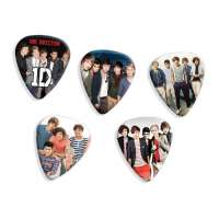 One Direction 5 X Mixed Guitar Médiators (set A) Premium Celluloid