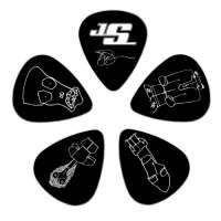 Planet Waves 1CBK4-10JS Lot de médiators « Joe Satriani » Medium 10 pièces (Import Royaume Uni)