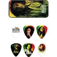 Dunlop – bobpt02h – Boîte de 6 médiators Heavy différents Bob Marley