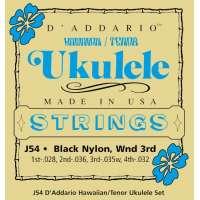 D'Addario J54 Hawaiian Tenor Ukulele Jeu de cordes pour ukulélé concert ténor (Import Royaume Uni)