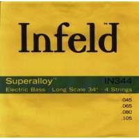 Thomastik Infeld Saite für Electric Bass Superalloy. Round Wound Long Scale Infeld Superalloy E-Bass-Strings- Round Wound, Long Scale- Sätze und Einzelsaiten für 4, 5 und 6-saitige Bässe erhältlich- IN 345 / .045 .065 .080 .0105 .0125-