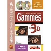 Gammes pour l'improvisation à la Guitare en 3D Tablatures Livres/CD:DVD