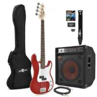 Guitare basse électrique de G-4 150W Power Pack Rouge