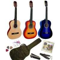 Pack Guitare Classique 1/2 Pour Enfant (6-9ans) Avec 6 Accessoires (sunburst)