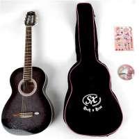 Gypsy rose – Guitare classique – Pack guitare classique noire 7/8 ggy grc1k/n