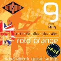 Rotosound Roto Orange Jeu de cordes pour guitare électrique Nickel Tirant hibryd (9 11 16 26 36 46) (Import Royaume Uni)