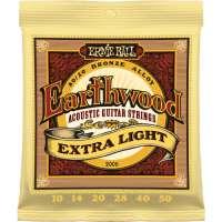 Ernie Ball – Cordes pour les guitares folk, acoustiques et électro acoustiques Earthwood jeu folk extra light 10 50